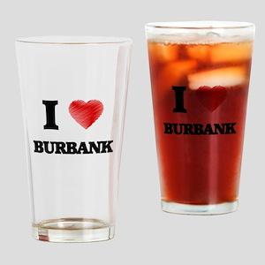 I Heart BURBANK Drinking Glass