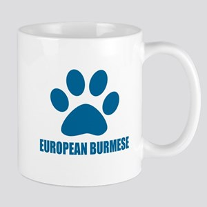 European Burmese Cat Designs 11 oz Ceramic Mug