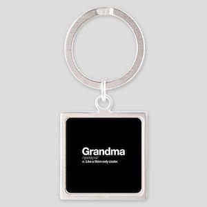 Grandma Definition Square Keychain