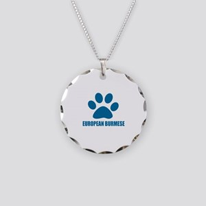 European Burmese Cat Designs Necklace Circle Charm