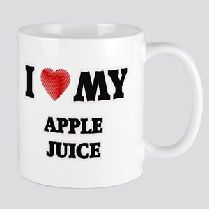 I Love My Apple Juice food design Mugs