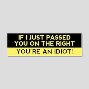 You're An Idiot! Car Magnet 10 x 3