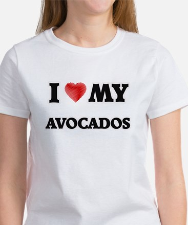 I Love My Avocados food design T-Shirt