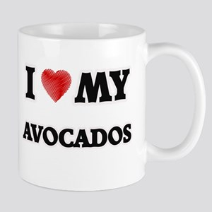 I Love My Avocados food design Mugs