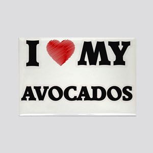 I Love My Avocados food design Magnets