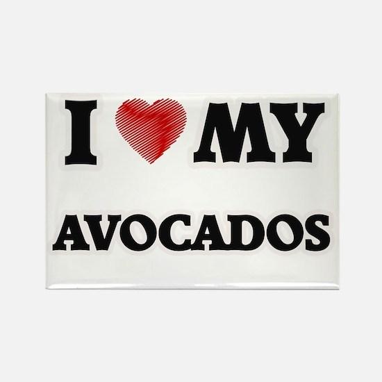 I Love My Avocados food design Magnets