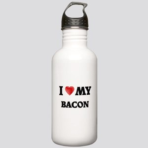 I Love My Bacon food d Stainless Water Bottle 1.0L