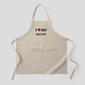 I Love My Bacon food design Apron
