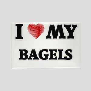 I Love My Bagels food design Magnets