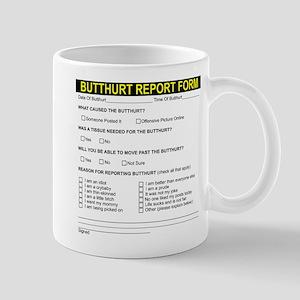 Butt Hurt Report Form Mug