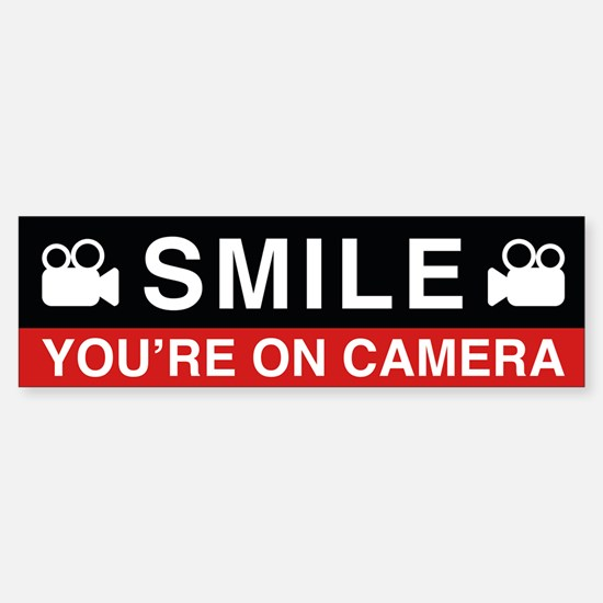 Smile You're On Camera Bumper Bumper Bumper Sticker