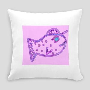 Fillmore P. Fish 4Darlene Everyday Pillow