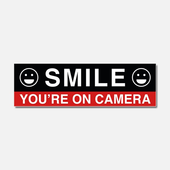 Smile You're On Camera Car Magnet 10 x 3
