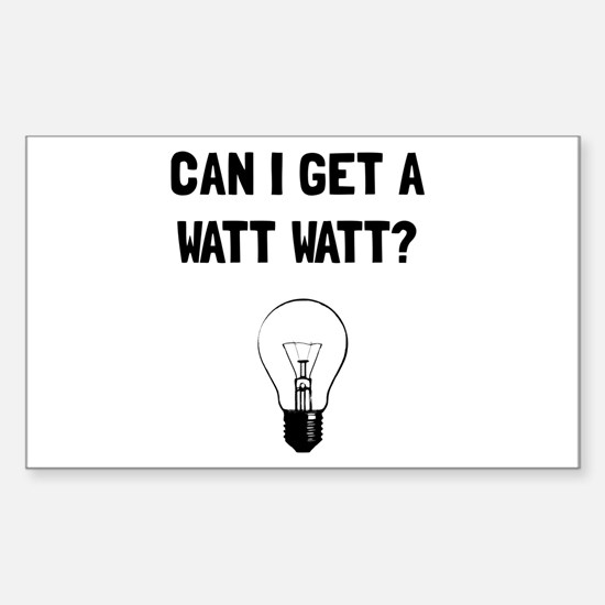 Watt Watt Decal
