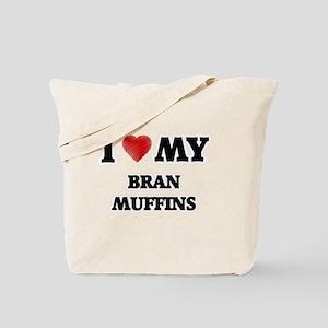 I Love My Bran Muffins food design Tote Bag