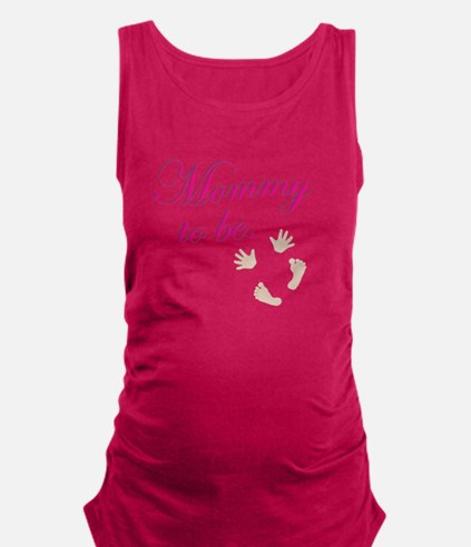 Mommy to Be Baby Prints by LH Tank Top