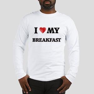 I Love My Breakfast food desig Long Sleeve T-Shirt