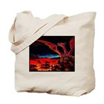 Dragons on both sides tote bag