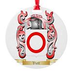 Viett Round Ornament