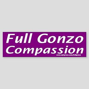 Full Gonzo Compassion Bumper Sticker