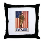 Be a U.S. Marine! Throw Pillow