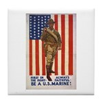 Be a U.S. Marine! Tile Coaster
