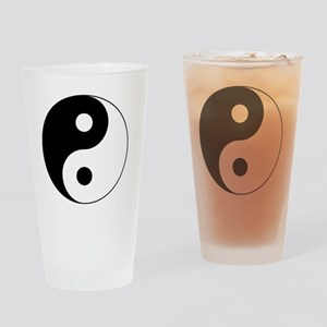 Yin Yang Symbol Drinking Glass