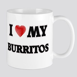 I Love My Burritos food design Mugs