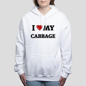 I Love My Cabbage food d Women's Hooded Sweatshirt