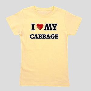 I Love My Cabbage food design Girl's Tee