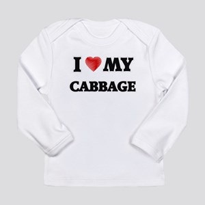 I Love My Cabbage food design Long Sleeve T-Shirt