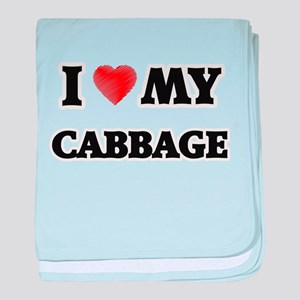 I Love My Cabbage food design baby blanket