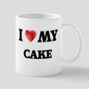 I Love My Cake food design Mugs