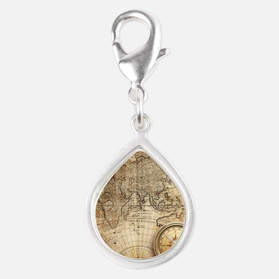 Vintage Map Charms