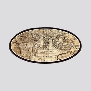 Vintage Map Patch