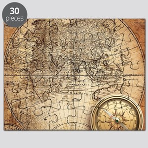 Antique World Map Puzzle.Old World Map Puzzles Cafepress
