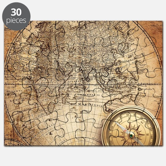 Old world map puzzles old world map jigsaw puzzle templates vintage map puzzle gumiabroncs Image collections