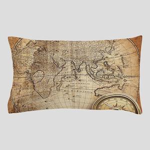 Vintage Map Pillow Case