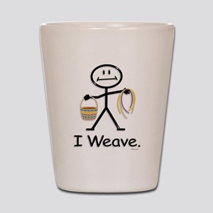 Basket Weaving Stick Figure Shot Glass