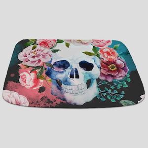 Flowers And Skull Bathmat