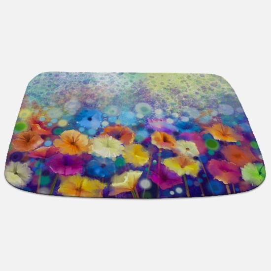 Floral Painting Bathmat