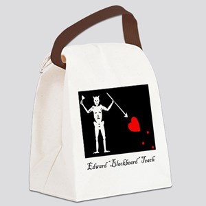Blackbeard's Flag Canvas Lunch Bag