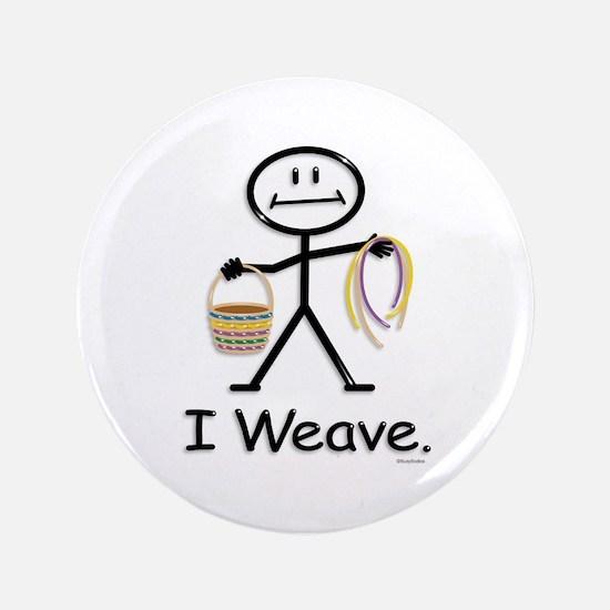 Basket Weaving Stick Figure Button
