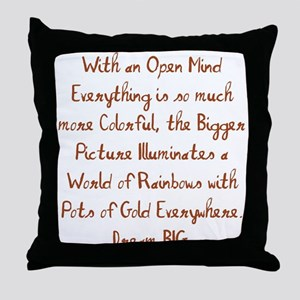 World of Rainbows Throw Pillow