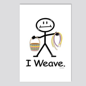 Basket Weaving Stick Figu Postcards (Package of 8)