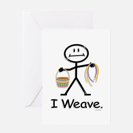 Basket Weaving Stick Figure Greeting Card