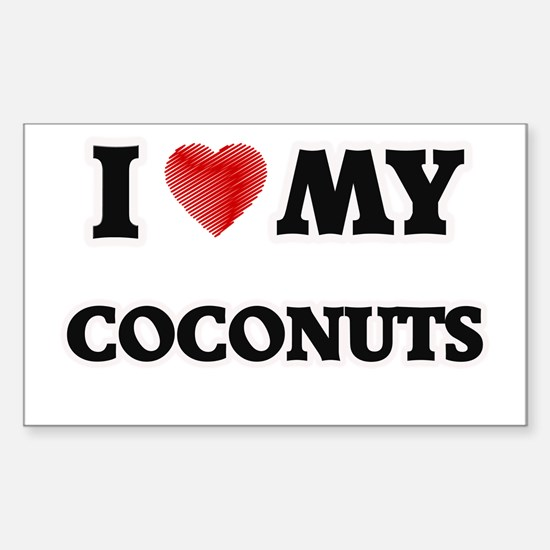 I Love My Coconuts food design Decal