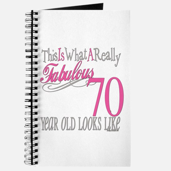 70th Birthday Gifts Journal