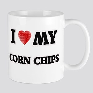 I Love My Corn Chips food design Mugs