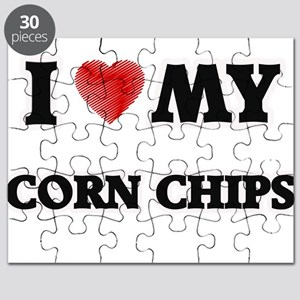 I Love My Corn Chips food design Puzzle